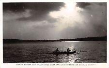 C32/ St Charles Canada Ontario RPPC Postcard Sun Valley Lodge Lake Nipissing 30s
