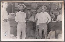 VINTAGE 1911 SANTA LUCRECIA MEXICO DRUG STORE STAPLES ALCOHOL HAT FASHION PHOTO