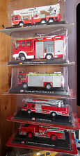1/64 DEL PRADO Pompiers du Monde : UK VOLVO LF 6 14 major rescue NEUF SS BLISTER