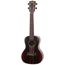 Kala Ebony Concert Ukulele Right-Hand Uke w/ Rosewood Fingerboard Aquila Strings