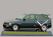 MODEL CARS, FORD ESCORT COSWORTH -02 with Clock