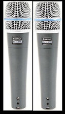 (2) New Shure BETA 57A Instrument Vocal Mic Auth Dealer Make Offer Buy It Now!