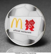 OLYMPIC PIN BADGE 2012 LONDON ENGLAND UK MCDONALDS SPONSOR SOCCER FOOTBALL