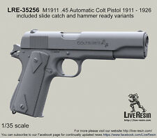 Live Resin 1/35 M1911 .45 Automatic Colt Pistol 1911-26 w/Slide Catch and Hammer