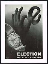 1940's Vintage 1948 Election Grand Prix Watch Mid Century Modern Art Print AD