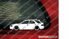 2x LOW 'Subaru Impreza wagon / hatchback GF8 WRX lowered outline stickers
