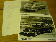 RENAULT 16 TX PRESS RELEASE & PHOTOS  Brochure Related jm