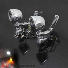 Lighting Bracket Turn Signal LED E-Mark Spot Fog Light For Harley 94-UP Touring