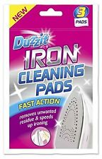 3 x Duzzit Iron Soleplate Cleaning Pads Fast Action Removes Unwanted Residue New