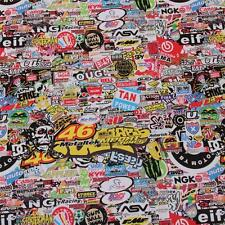 "1520mm x 300mm  ""Motor Racing"" Stickerbomb, Sticker Bombing Sheets Bubble Free"