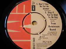 "TOM ROBINSON - DON'T TAKE NO FOR AN ANSWER   7"" VINYL EP"