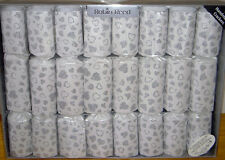 8 GIANT SILVER HEARTS Crackers Wedding Anniversary
