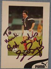 Tom Boyd signed football club card Celtic / Scotland
