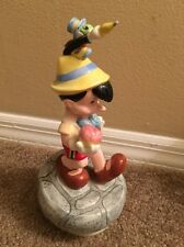 SCHMID PINOCCHIO JIMINY MUSIC BOX GIVE A LITTLE WHISTLE DISNEY