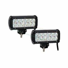 "2X 7"" 36W Cree Led Work Light Bar Flood Beam Offroad Driving for SUV Boat Truck"