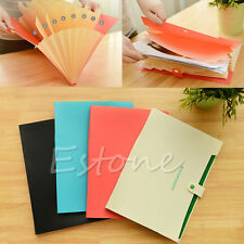 Hot Plastic 8 Pockets A4 Paper File Folder Holder Document Office Supplies 1PC