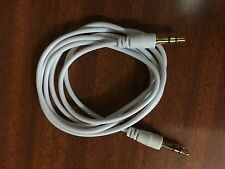 White Replacement Aux 3.5mm Audio Jack Cable for Monster Beats Dr Dre Headphone