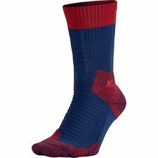 Nike SB Elite Skate 2.0 Crew Socks Deep Royal Blue Red Sz Medium SX5007-456