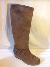 Aldo Brown Knee High Leather Boots Size 39