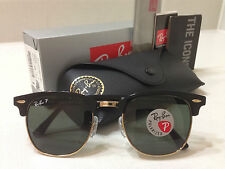 AUTHENTIC Ray-Ban RB3016 Black Clubmaster 901/58 POLARIZED 51mm