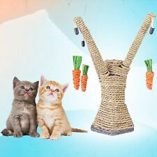 New Cat Scratching Tree Pet Kitten Playing Climbing Activity Post W/Hanging Toys