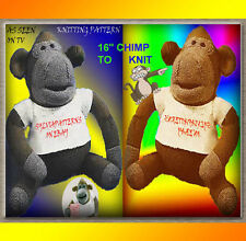 "ITV / PG TIPS 16"" MONKEY/CHIMP PLUS 1 SWEATER & HAT, TO KNIT   KNITTING PATTERN"