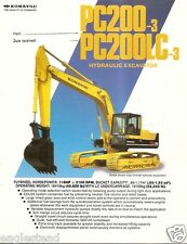 Equipment Brochure - Komatsu - PC200-3 LC-3 - Hydraulic Excavator c1986 (E2104)
