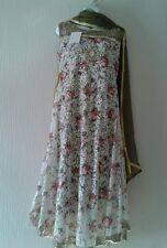 Onorevoli Ragazze readymade cucito Designer Shalwar Kameez Pantalone Net Medium Nuovo