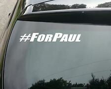 2 XLarge Paul Walker #for Paul FAST AND FURIOUS Vinile Decalcomania Sticker Riposa in Pace