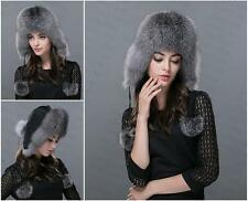 new Genuine Real fashion Winter Women fox fur New Hat Cap Headgear Beanie A13