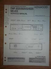 Kenwood Service Manual~DMF-3020(S)/5020~MD-203 Minidisc Recorder/Player~Original