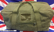 Genuine British Army Issue Vintage Heavy Duty Canvas Deployment Holdall Kit Bag