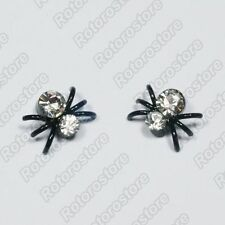 Crystal Spider Magnet Stud Earrings - Magnetic Mens Womens Fashion - NEW