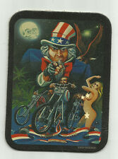 LEATHER DAVID MANN - UNCLE SAM BIKER - MOTORCYCLE VEST BIKER PATCH EASY RIDERS