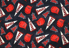 Los Angeles Angels of Anaheim MLB Print Fleece Fabric by the Yard s6523df