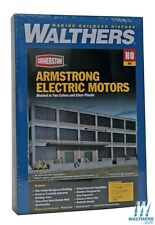 3172 Walthers Background Building Armstrong Electric Motors HO Scale NEW
