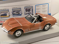 1970 CHEVROLET CORVETTE C3 in Bronze  - 1/24 scale model by Maisto
