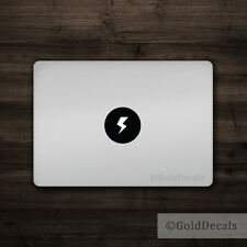 Lightning Bolt -- Mac Apple Logo Laptop Vinyl Decal Sticker Macbook Light Storm