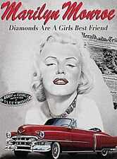 Marilyn Monroe Diamonds Are.... metal sign  (og 2015)