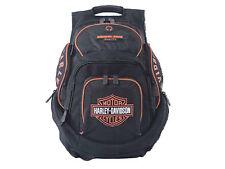 Harley-Davidson® Bar & Shield Deluxe Backpack Bag | Black-Orange BP1900S-ORG BLK
