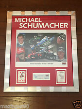 Michael Schumacher Signed Starcards for G.O.S.H. Framed Formula One 1/1 Ferrari