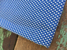Vintage Feedsack fabric Navy Blue with white pin Dots