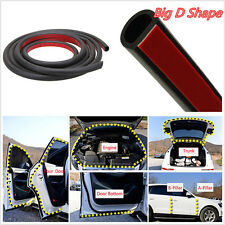 8M Big D-Shape Moulding Black Trim Rubber Strip Car Door Edge Seal Weather-strip