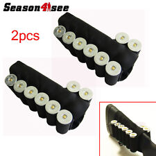 2pcs 8 Round Elastic Tactical Holster Ammo Shotgun Shell Buttstock Holder UK