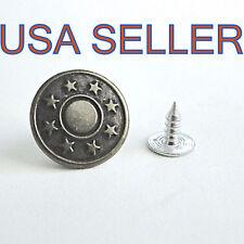 10 Sets/20 Pcs ANTIQUE GOLD Metal Jean Buttons-NO SEW METAL Button