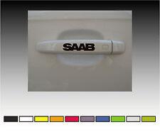 SAAB  Premium Door Handle Decals Stickers X2