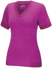 Adidas Women Golf Tour Burnout Fashion Top (S) Pink B81886