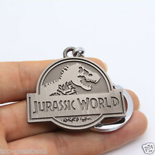 New Jurassic World Jurassic Park Logo Metal Keychain Keyring Gray Color