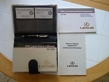 Lexus 2004 RX 330 Owner's Manual with Great Carry Case