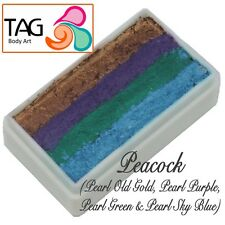 TAG Body Art One Stroke Professional Face Paint Cake (30g) ~ Peacock
